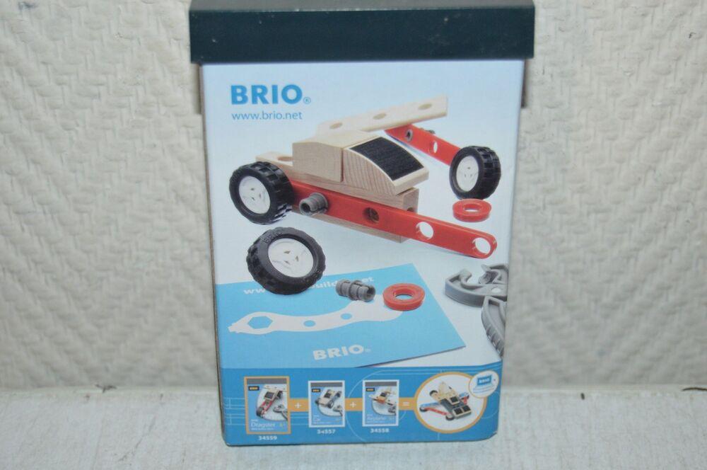 Voiture A Monter Bois Brio Modele Mini Dragster Builder 19 Pcs Model Kit Neuf