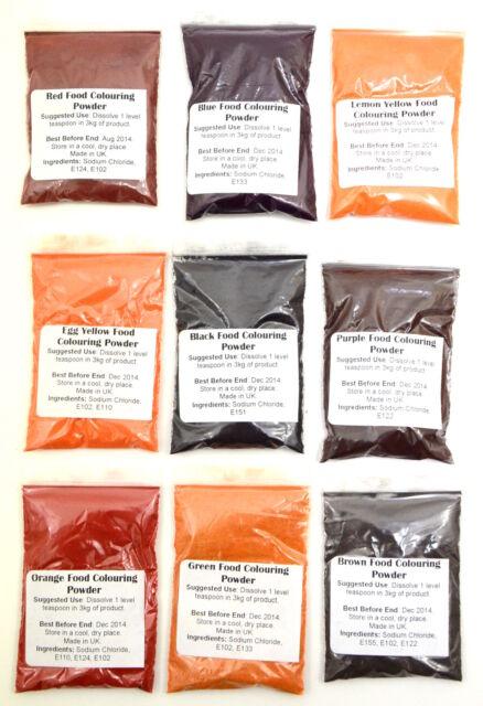 Extra Stark Konzentrierte Nahrungsmittelgrad Farbton Pulver 9 Farben Auswählen