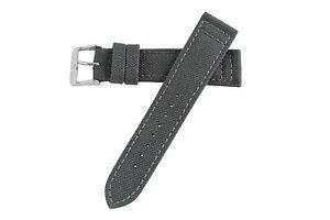 18mm-Grau-Robust-Militaer-Cordura-Canvas-Watch-Band-Strap-MS850-polierte-Schnalle