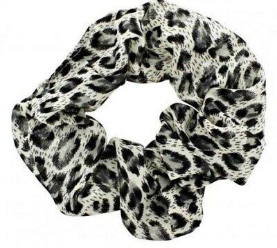 Iniziativa Stampa Animale Leopardo Nero 4cm Grande Fascia Per Capelli Parrucchino Coda Di Cavallo Nuovo Di Zecca-mostra Il Titolo Originale