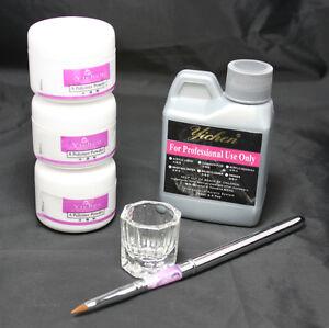 Wonder-Starter-Nail-Art-Kit-120ml-Acrylic-Liquid-3-Colors-Powder-Pen