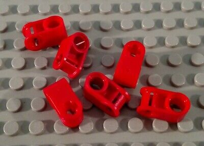 LEGO Lot of 6 Red Perpendicular Technic Pin and Axle Connector Pieces