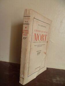 D.H Lawrence HOMBRE Que Fue Muerto Trad.j.dalsace-d.la Rochelle / 1933 Gallimard