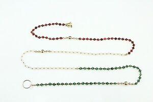 Pearl /& Red//Green Crystal Beaded Chain//Garland//Ladi//Toran//Door Wall Hanging