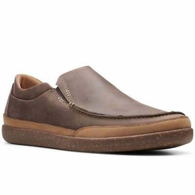 Clarks Un Lisbon Twin Mens Casual Slip on Shoes