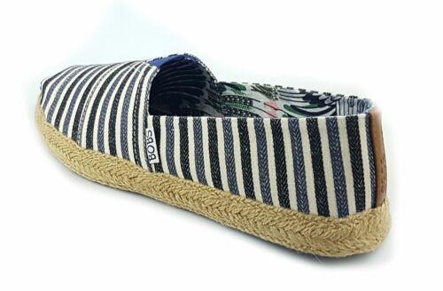 Skechers flexpadrille-Port & TRIBORD Femme Décontracté Escarpins Toile Chaussures Navy