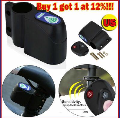 Lock Bicycle Cycling Security Wireless Remote Control Vibration Sensor Alarm