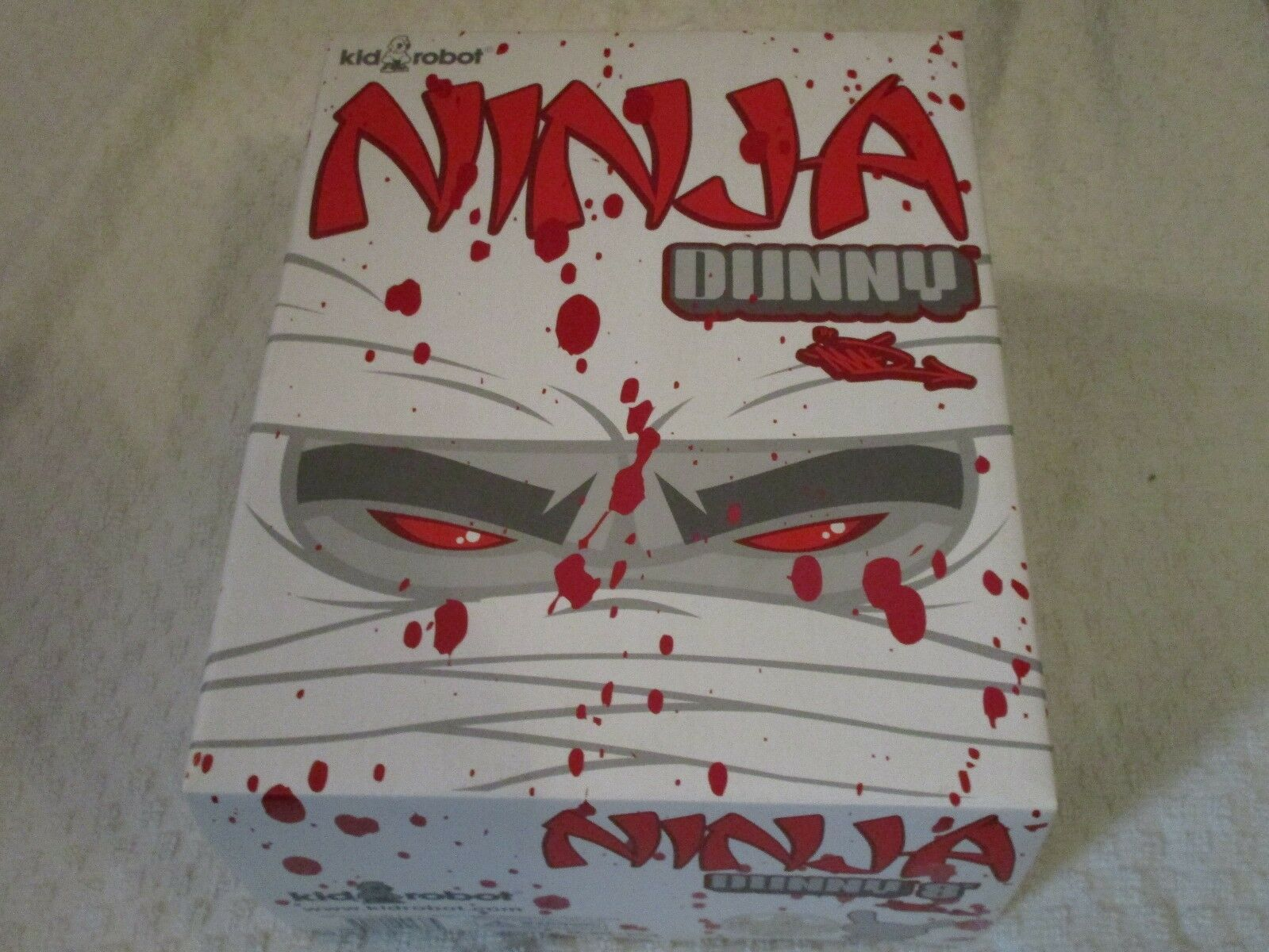 Kidrobot 8  White Ninja Dunny Signed by MAD MAD MAD 1e013a