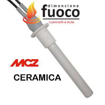 CANDELETTA RESISTENZA IN CERAMICA CON FLANGIA STUFA MCZ  CLUB  EGO MUSA 1048