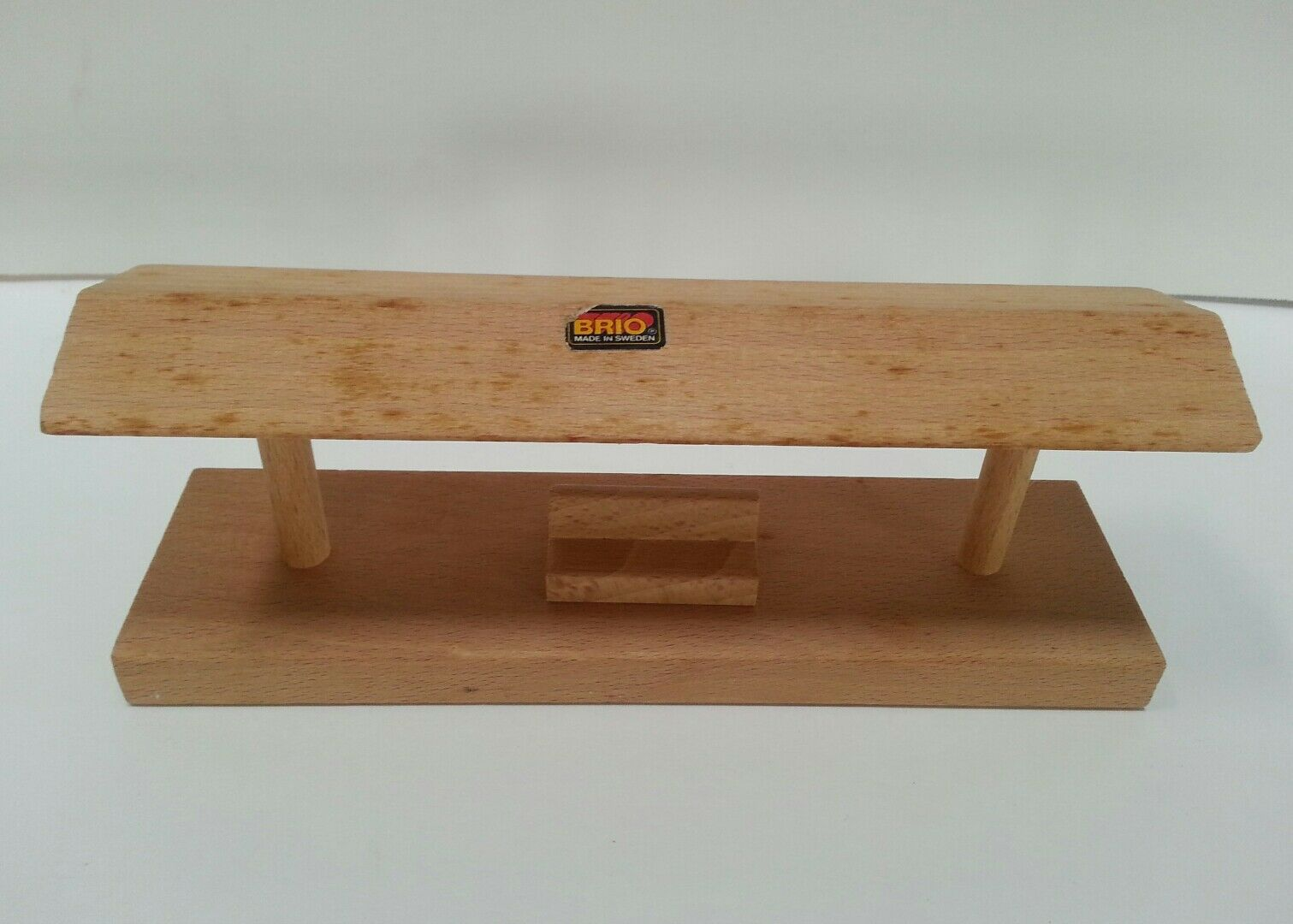 Made in Sweden Brio All-Wooden Old-Fashioned Train Station with Benches
