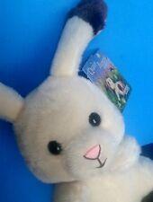 "Quiet Bunny Rabbit Plush 8"" Lisa McCue Fuzzy Tails Stuffed Easter Animal"