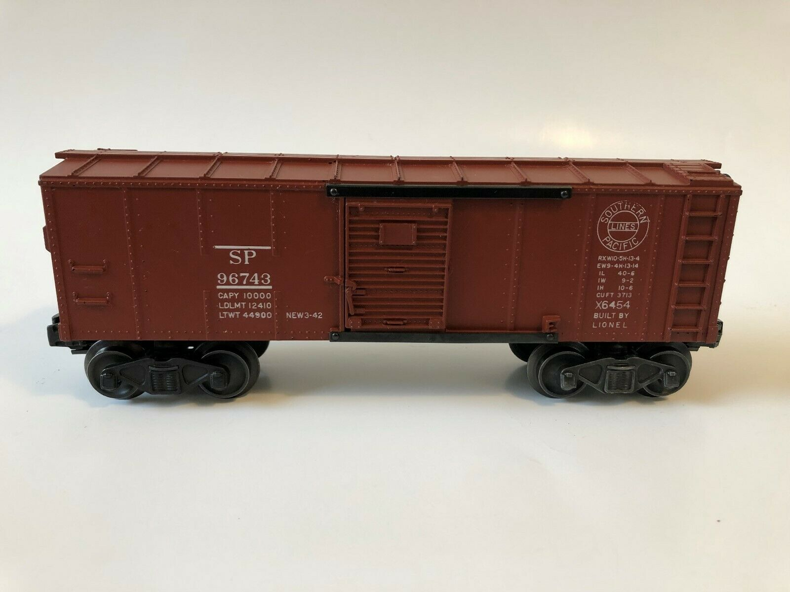 Lionel  6454 Southern Pacific 1949  Rare   (break in herald circle between R-N)