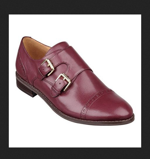NINE WEST FOODIE monk strap strap strap double buckle oxfords burgundy leather hipster shoes a8c703
