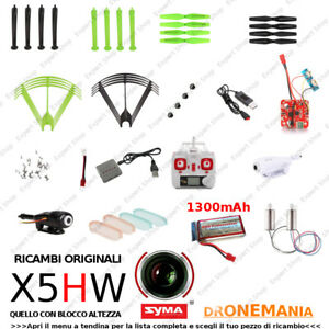 Ricambi-DRONE-SYMA-X5HW-WIFI-FPV-eliche-batterie-caricatore-usb-camera-motori