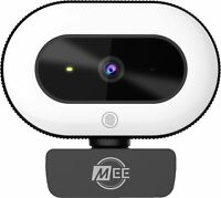 MEE audio 1080p Live Webcam with LED Ring Light