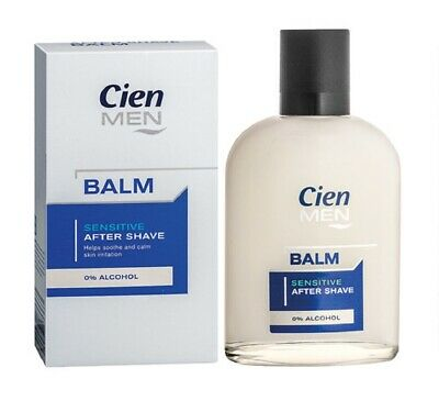 Cien Men Sensitive After Shave Balm 0% Alcohol 100 Ml Health & Beauty 3.4 Fl.oz. Shaving & Hair Removal