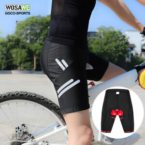 New-Men-039-s-Cycling-Shorts-4D-Gel-Padded-Bicycle-Half-Pants-Riding-MTB-Bike-Black