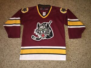 half off 7162d a64c3 Details about Chicago Wolves AHL Vegas Golden Knights Sewn/Stitched Signed  Jersey - Youth L/XL