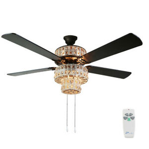 Details About River Of Goods 52 Punched Metal And Crystal Ceiling Fan Lighting With Remote