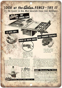 Atlas-Tilt-Arboar-Saw-Table-Saw-Ad-12-034-X-9-034-Retro-Look-Metal-Sign-Z37
