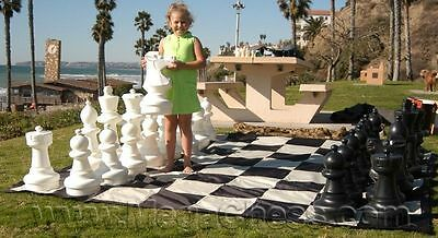"""Giant Nylon Chess/Checkers Board with 13"""" Squares - Outdoor Chess/Checker board"""