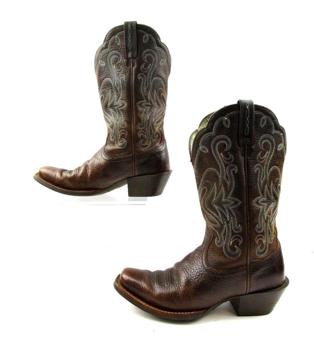 Ladies Ariat Brown Leather Square Toe Cowboy Western Boots Size Size Size  6.5 B 924f87