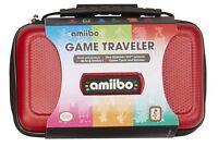Nintendo 3ds / 3ds Amiibo Tasche Rot Für Konsole Figurenspiele Na5