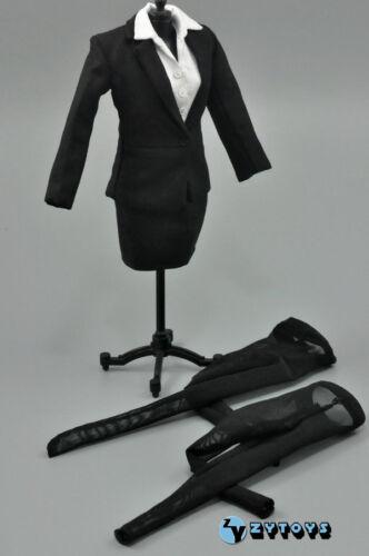 ZY Toys Female Black Color Skirt Suit Full Set 1//6 Fit Phicen Kumik body