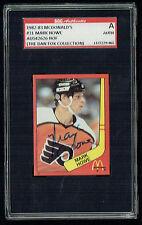 Mark Howe #31 signed autograph auto 1982-83 McDonald's Card SGC Authentic