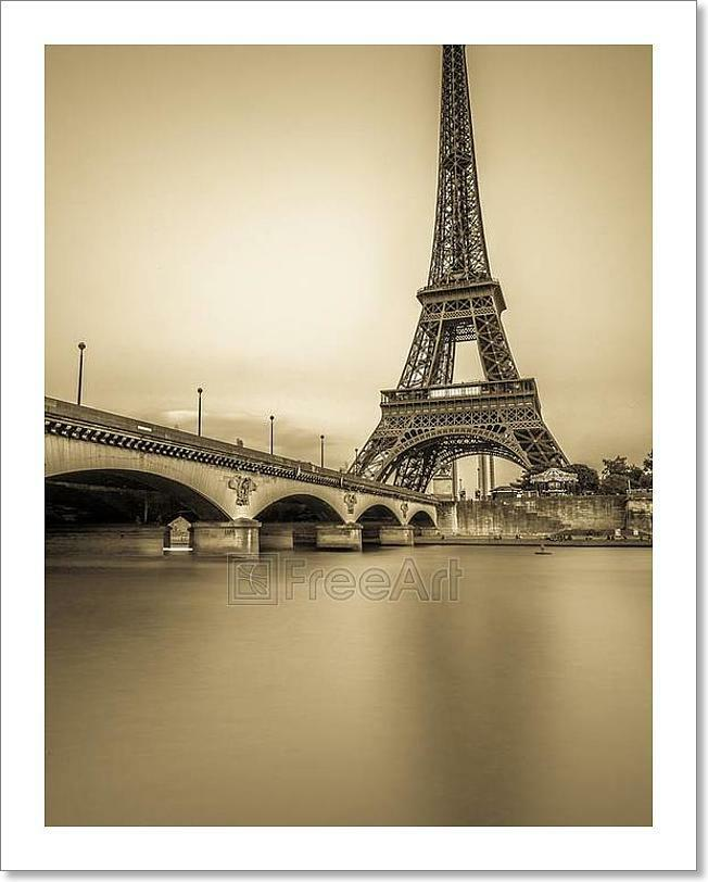 Long Exposure Of Eiffel Tower And Kunst Drucken Home Decor Wand Kunst Poster - C