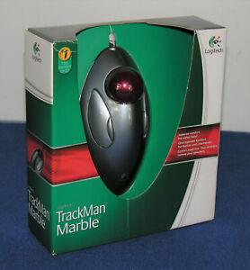 LOGITECH TRACKMAN MARBLE, trackball, Ottico, USB, 4 pulsanti, Argento