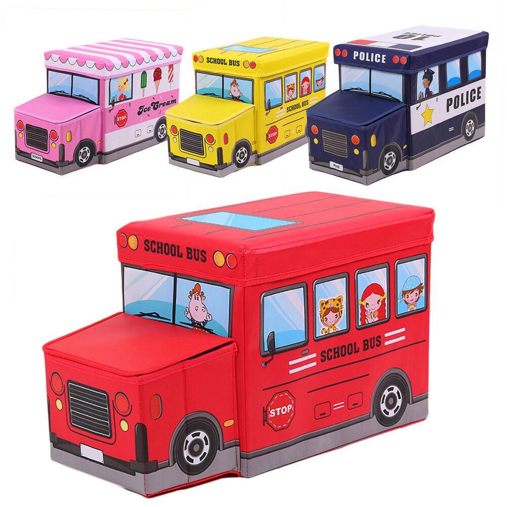 Cn _ Cartoon Scuola Bus Auto Contenitore Pieghevole Giocattolo Bambini Supporto