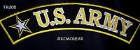 """u.s. Army"" White And Yellow And Black Army Star Top Rocker Patch"