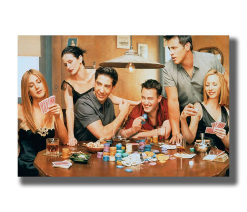 Friends Classic TV Series Show Season Vintage Fabric Poster Art TY149 24x36 Inch