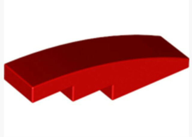 LEGO NEW 1x4 Dark Red Slope Curved 10x 6042953 Brick 61678