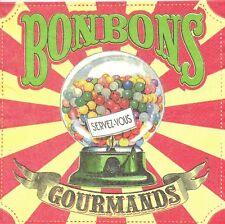 2 serviettes papier Les bonbons Vintage Decoupage Paper Napkins Sweets Candy