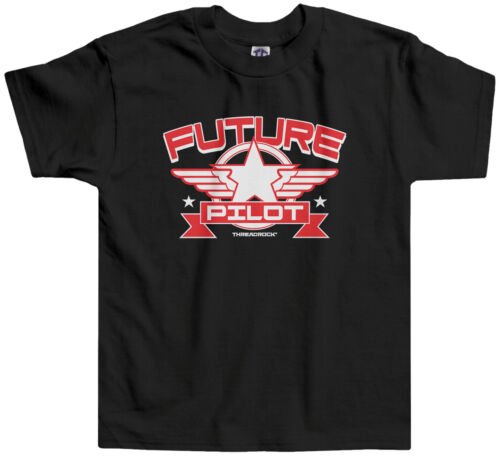 Threadrock Kids Future Pilot Toddler T-shirt Airplane Aviation Flying Plane