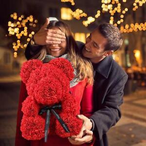 38cm-Rose-Bear-Teddybaer-Blume-Geburtstag-2019-Valentinstag-Geschenk-Spielzeug