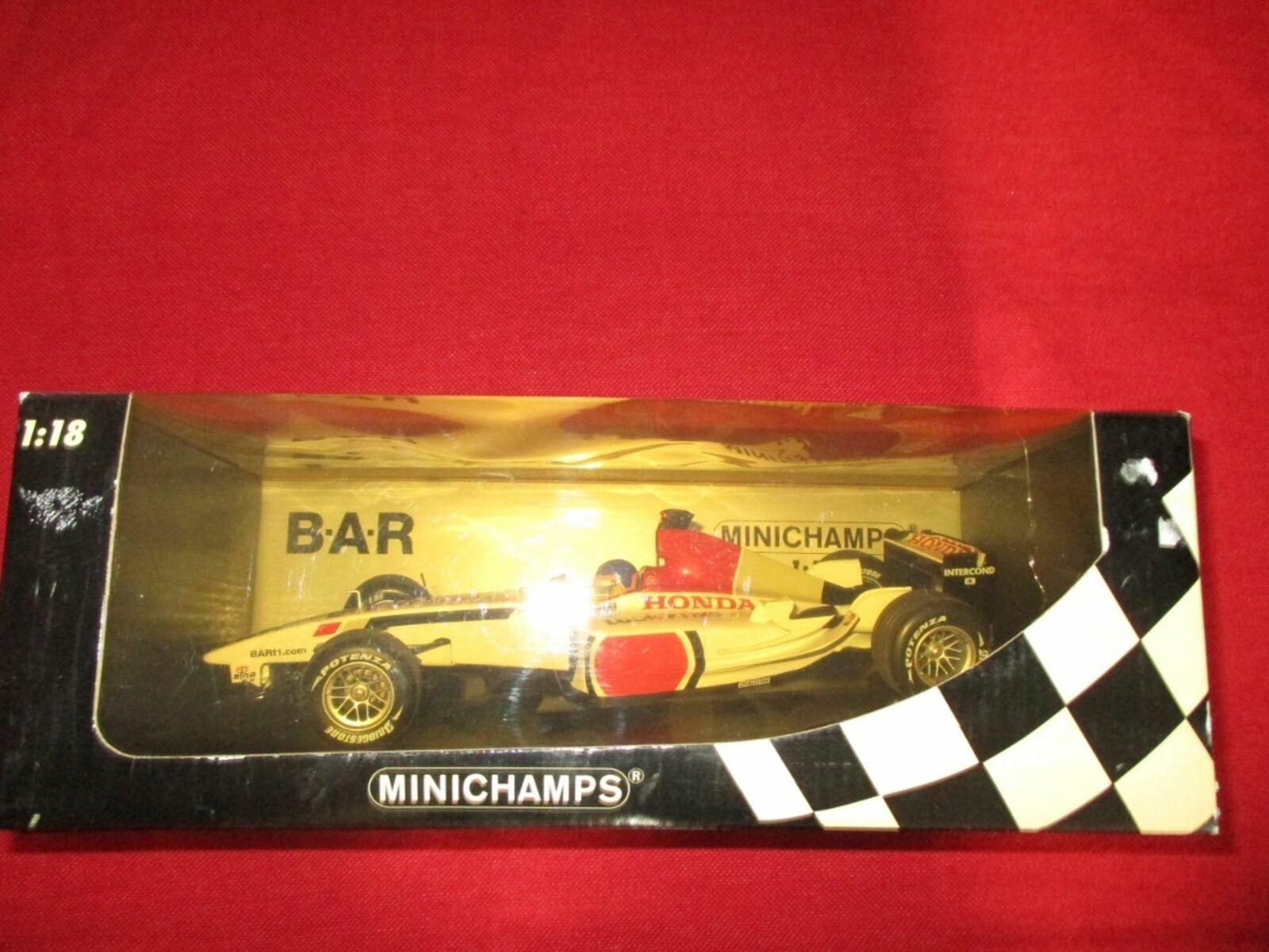 Minichamps ® 100 030016 1 18 b.a.r. honda 005 J. villeneuve nuevo embalaje original