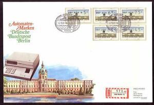 Automatenbriefmarken Berlin 1987 Atm Vs2 Komplett Auf Fdc kn15_629