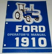 Ford 1910 Tractor Operators Owners Manual Very Good Original Se 4096b