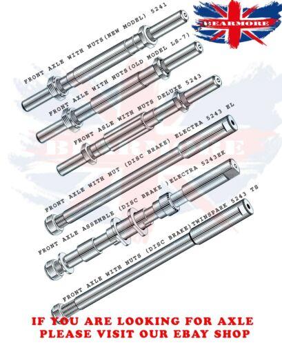 Vendeur Britannique nouveau modèle Roue Avant Axe Essieu Kit pour Royal Enfield Bullet