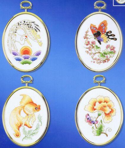 Kit de bordado de tesoros Oriental Flor Mariposa Pez Craft