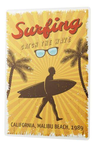 Tin Sign World Tour  Malibu surfing