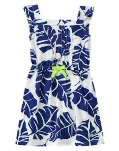 NWT Gymboree Blue safari Palm Leaf  Print Dress SZ 7 8 Girls