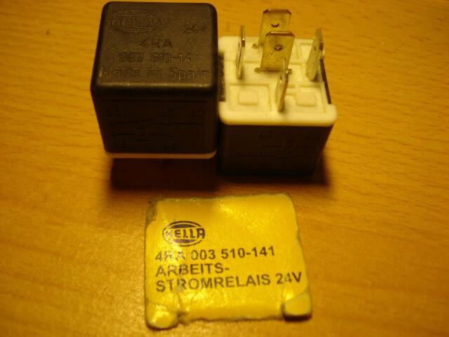 mit Halter 24V Arbeitsstrom HELLA 4RA 003 530-051 Relais mit Sicherung