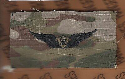 US Army Crewmember Senior Aviation Flight OD Green Black badge cloth patch sewn