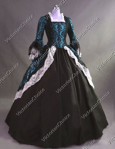 Victorian Costume Dresses & Skirts for Sale    Colonial Victorian Gothic Princess Fancy Gown Dress Costume Steampunk V 164 L  AT vintagedancer.com