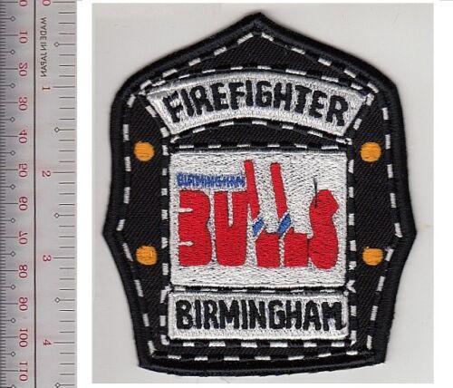 Birmingham Fire Department /& WHA Birmingham Bulls Ice Hockey Team Promo Patch sm