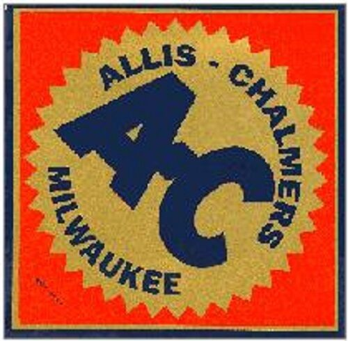 ALLIS CHALMERS VINYL STICKER A068